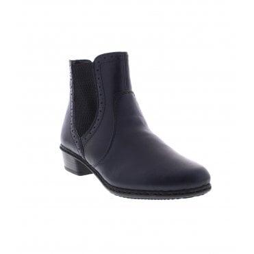 9c793166944c Y0771-15 Ladies Blue Zip Up Ankle Boots