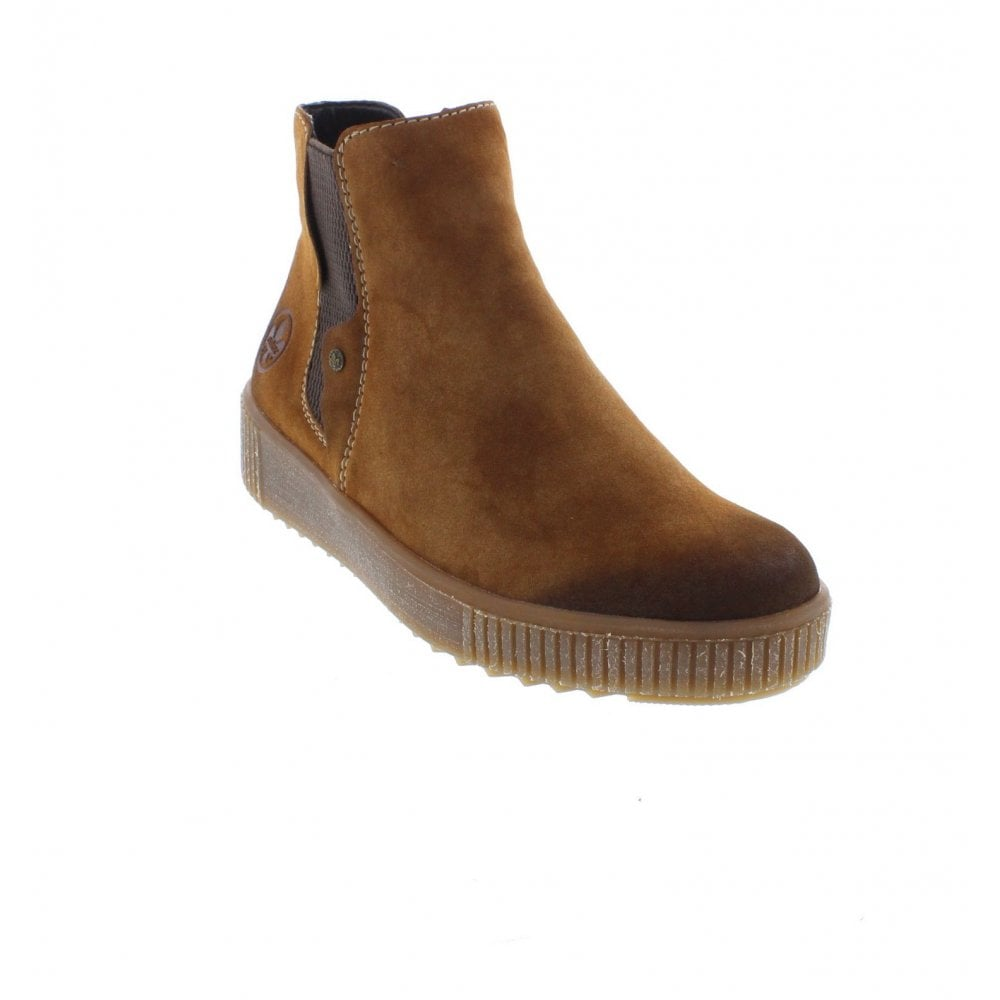 united kingdom autumn shoes really comfortable Rieker Y6461-24 Ladies Brown Zip Up Ankle Boots - Rieker Ladies ...
