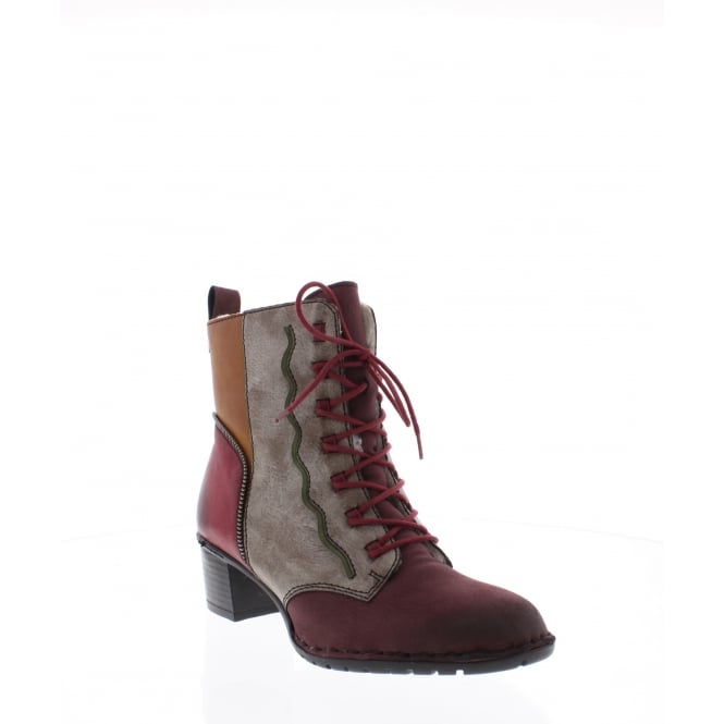 Rieker Y7130-36 Womens multi coloured ankle boot