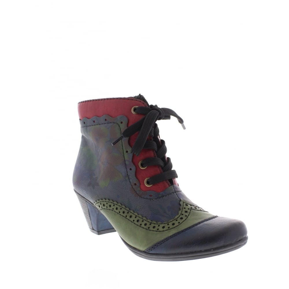 rieker y7213 15 womens multi coloured ankle boot rieker