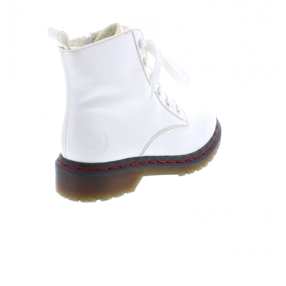 Rieker Y8210-80 Ladies White Zip Up