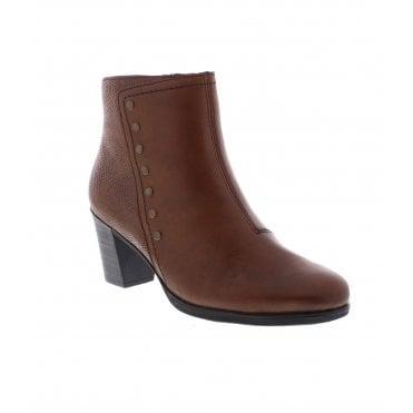 9b84a1739348 Rieker Y8957-22 Ladies Brown Ankle Boots