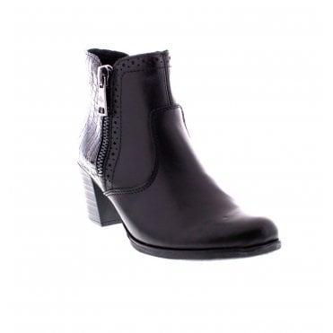 462daee067650 Rieker Y8965-00 Ladies Black Ankle Boots
