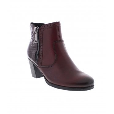 0a55d9ad8 Rieker Y8965-35 Ladies Red Ankle Boots