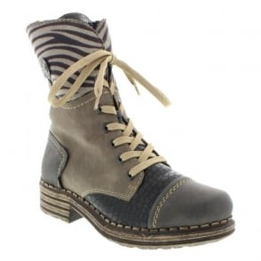 Rieker Y9624-46 Grey Combination boot
