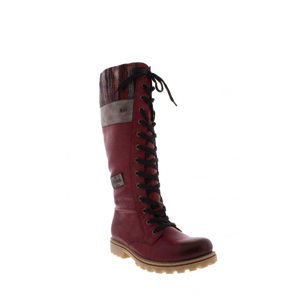 5b2364c6aab8 Rieker Z1442-35 Ladies Red Long Boots - Rieker Ladies from Rieker UK