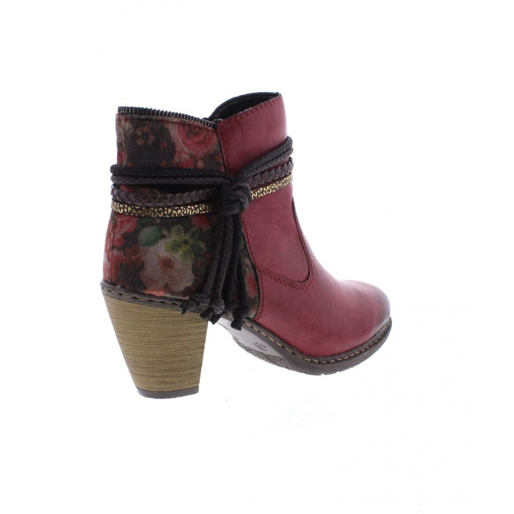 ce331e32bbeaa Rieker Z1580-35 Ladies Red Ankle Boots - Rieker Ladies from Rieker UK