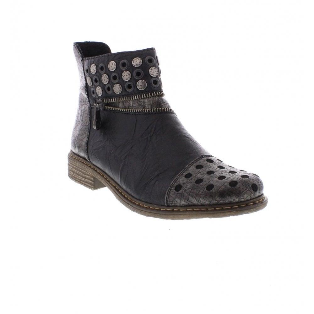 4e5180c4555c2 Rieker Z2163-90 black combination Ladies' boots - Rieker Ladies from ...