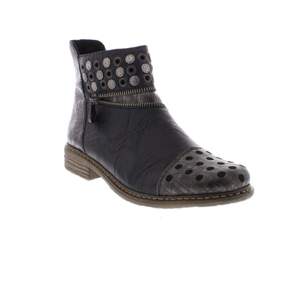 de83f335b3934 Rieker Z2163-90 Ladies Black Combination Ankle Boots - Rieker Ladies from  Rieker UK