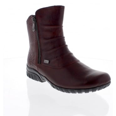 Rieker Z4663-35 Ladies Red Ankle Boot