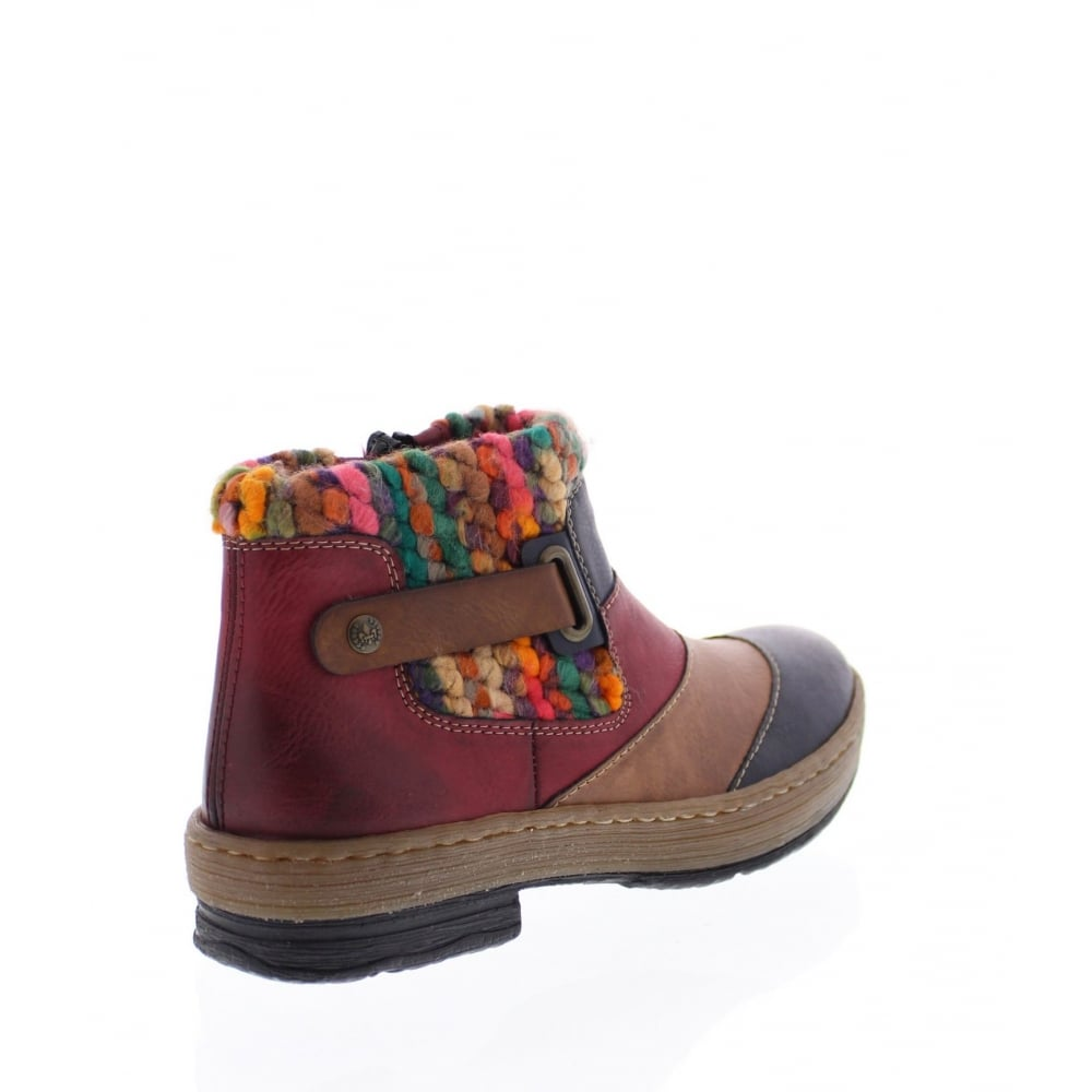 Ladies Rieker Z6782 Casual Warm Lined Ankle Boots