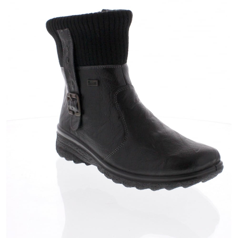 87aa582ca4 Rieker Z7054-00 Ladies Black Zip boots - Rieker Ladies from Rieker UK