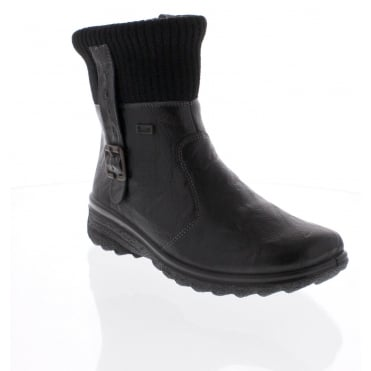 Rieker Z7054-00 Womens black Rieker 'Tex' ankle boot