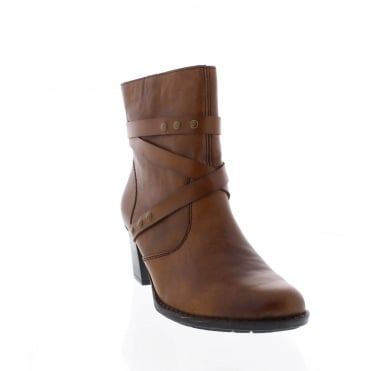 Rieker Z7668-22 Womens brown ankle boot