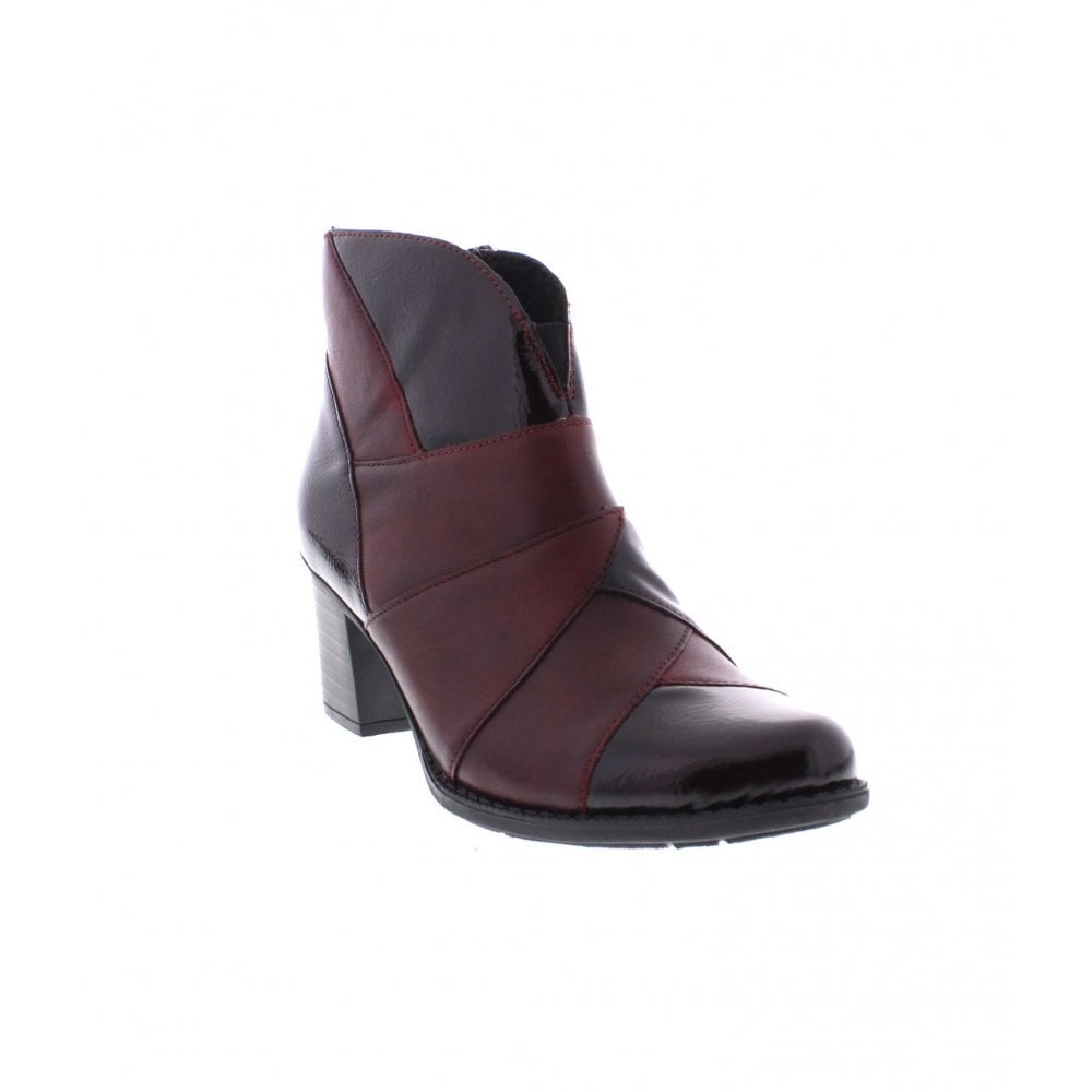 fd7bdd38e828 Rieker Z7676-35 Ladies Red Combination Ankle Boots - Rieker Ladies from  Rieker UK