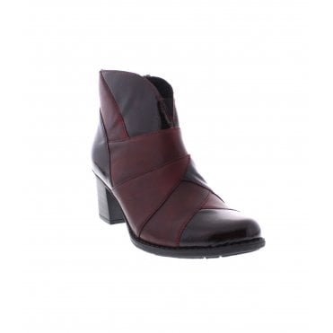b9da2f6f37b2 Rieker Z7676-35 Ladies Red Combination Ankle Boots