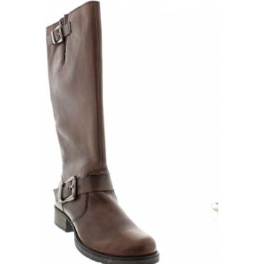 b832a852690 Rieker Z9580-25 Ladies Brown Long Boots