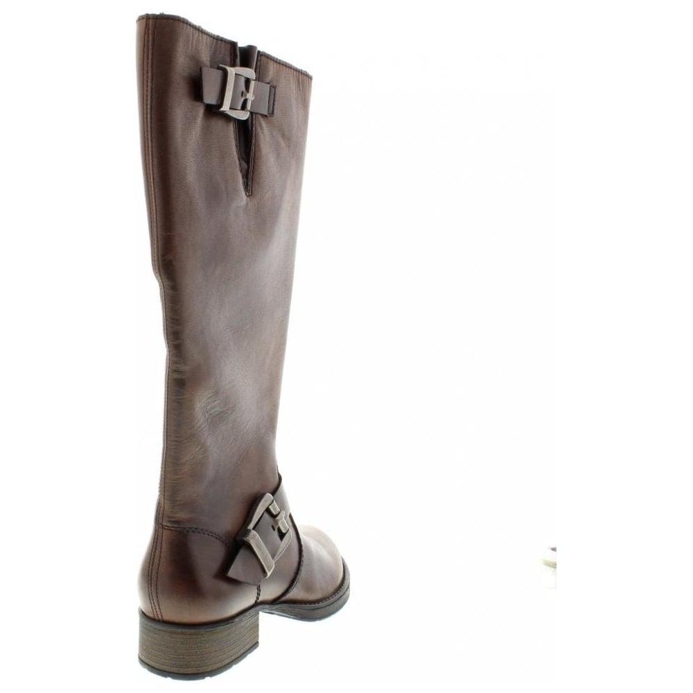 Top Design niedrigerer Preis mit Steckdose online Z9580-25 Ladies Brown Zip Up Boots