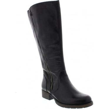 Rieker Z9581-00 Ladies Black Zipper boots